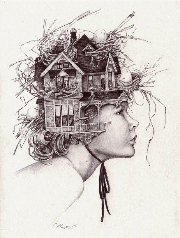 I Need A Guide Christina Mrozik Arte Surrealista Ilustração Da Arte Ilustrações