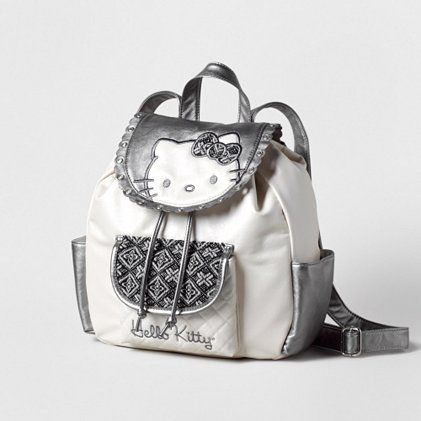 Hello Kitty Tweed Backpack   Claire s So cute! I love Hello Kitty!  Definitely going on my b-day wish list! 71f678cacc