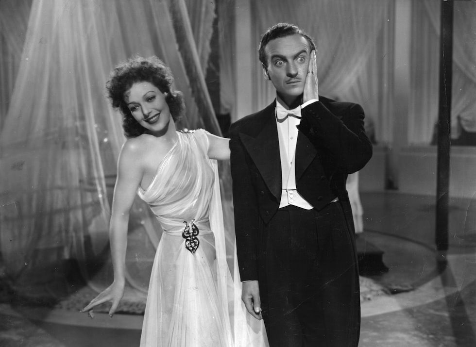 Loretta Young and David Niven