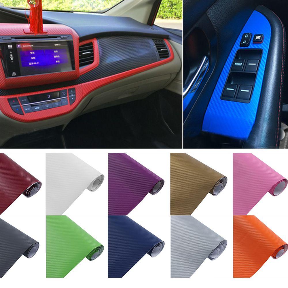Comprar 1 Unids 3d Carbono Fibra Vinilo Del Coche Que Envuelve La Hoja De Carbono Fibra Decoracion Etique Car Accessories Custom Car Interior Cool Car Stickers
