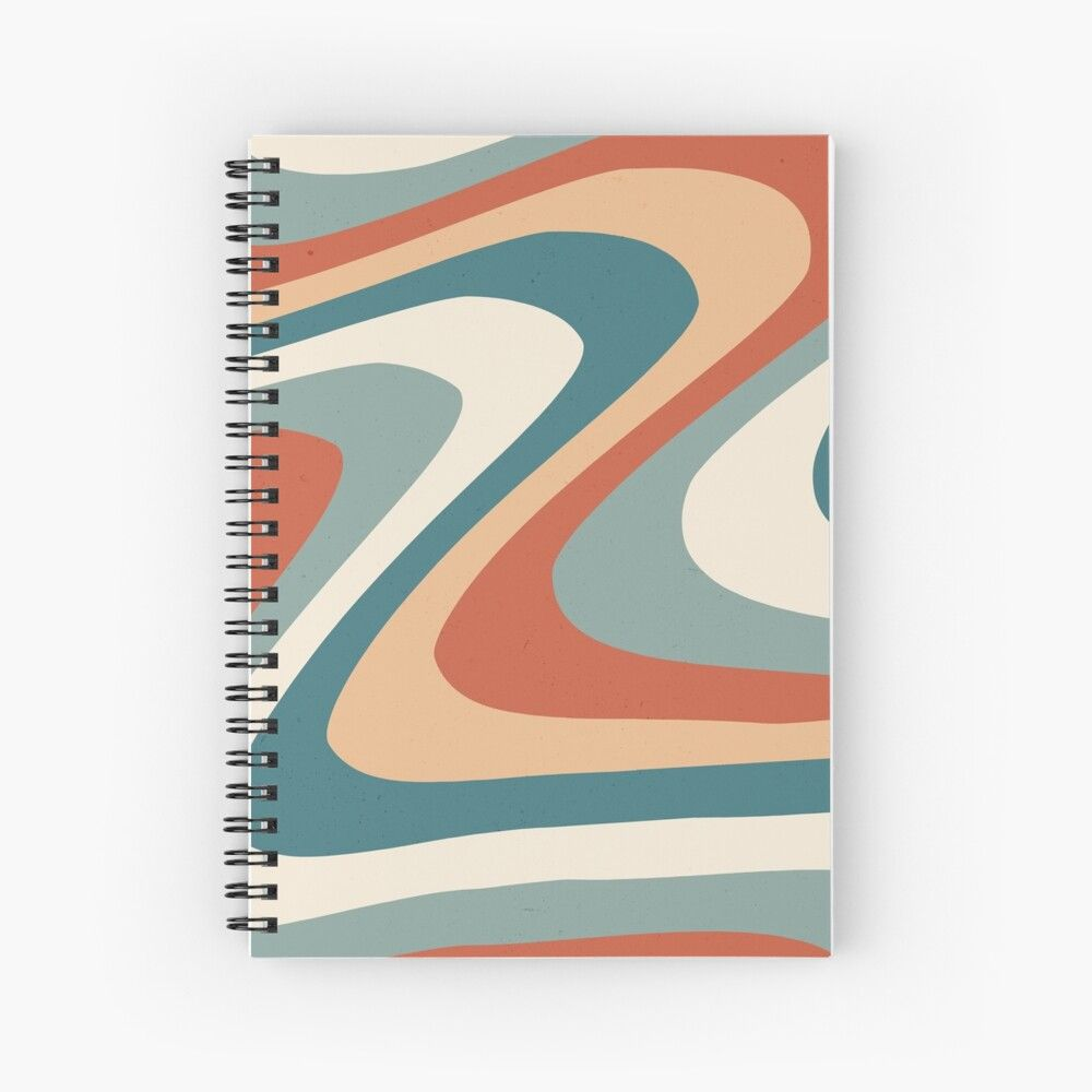'70s Retro abstract Aesthetic' Spiral Notebook by ...