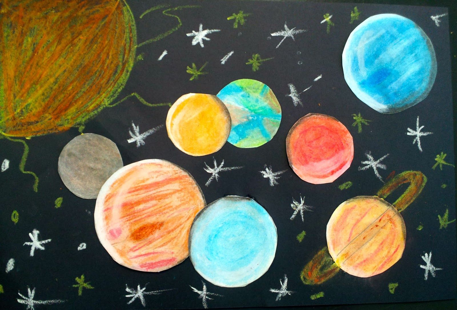 Art With Ms Gram Oil Pastel Solar Systems 5th