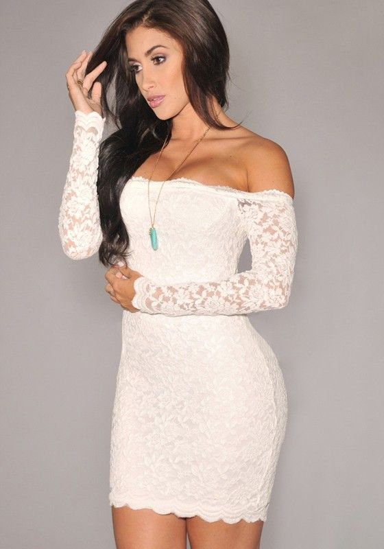Plain white strapless dress cheap