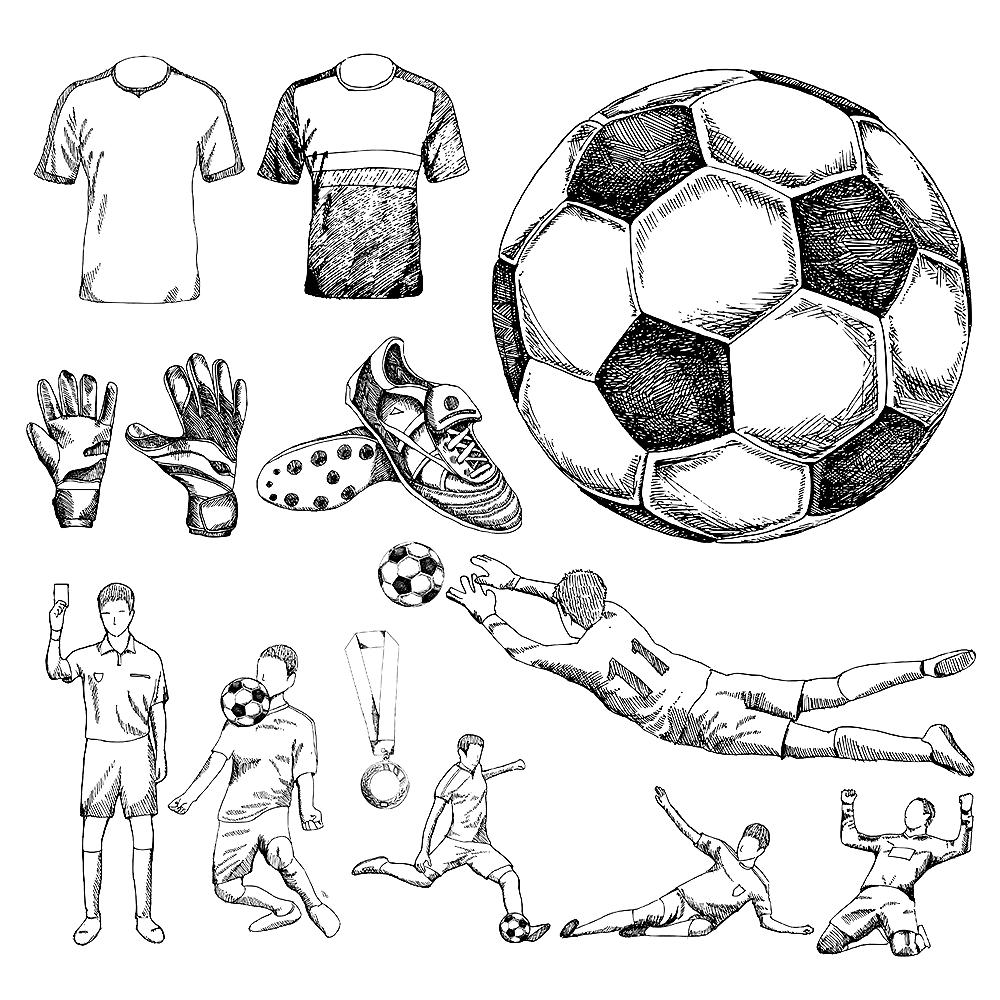 Soccer Drawing Include Drawing Vector Soccer Dibujos Deportivos Como Dibujar Cosas Poses De Futbol