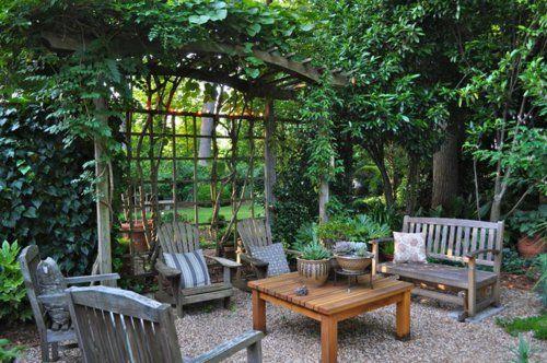 origineller sichtschutz im garten landschaft wohnbereich draußen, Garten ideen