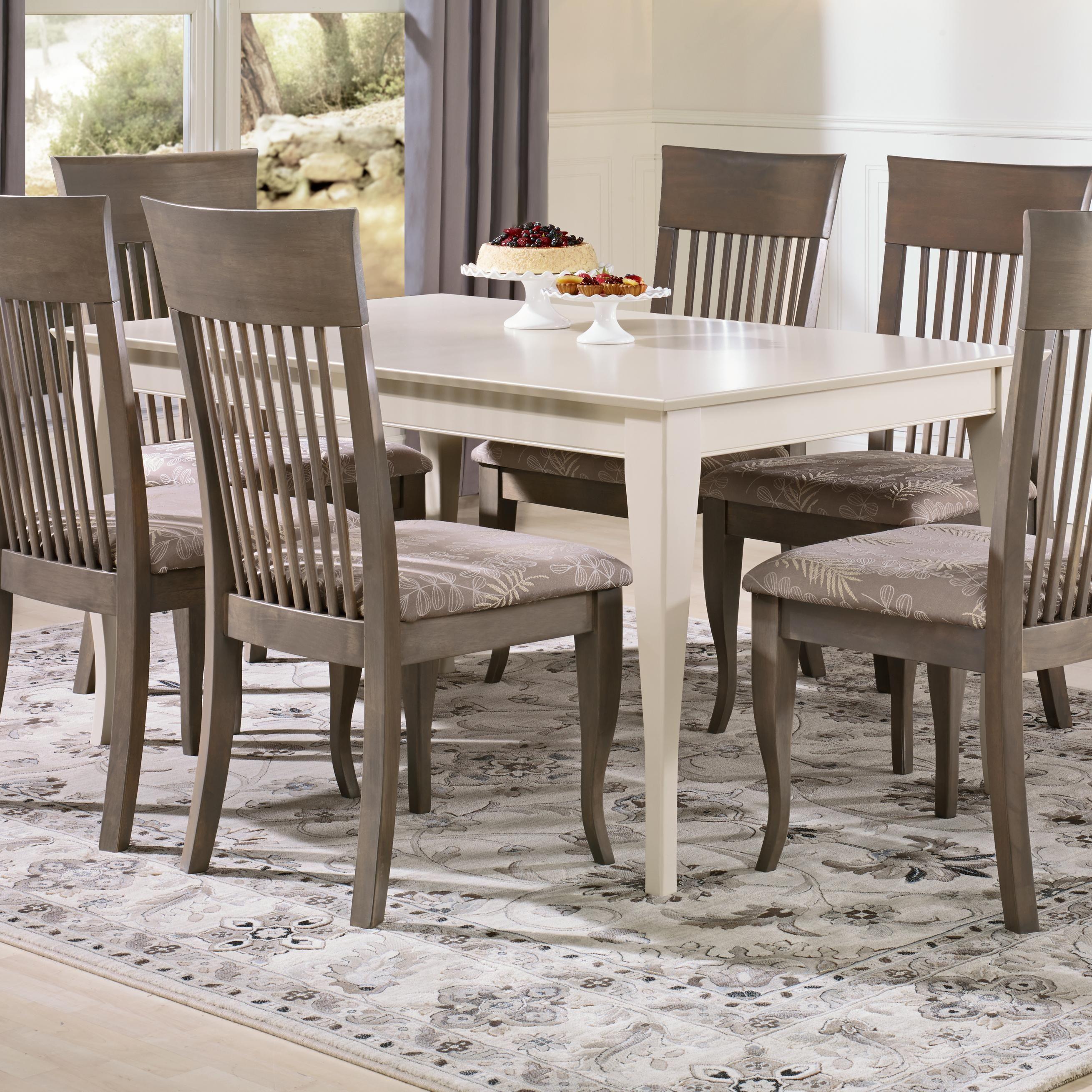 Gourmet Custom Dining Customizable Rectangular Table By Canadel