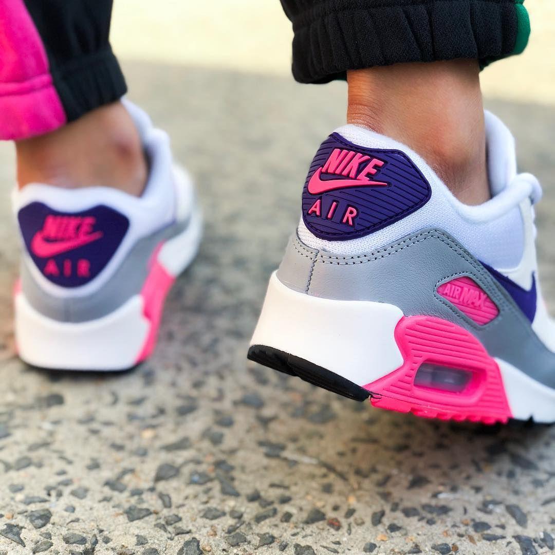 Nike Air Max 90 - White Purple Grey