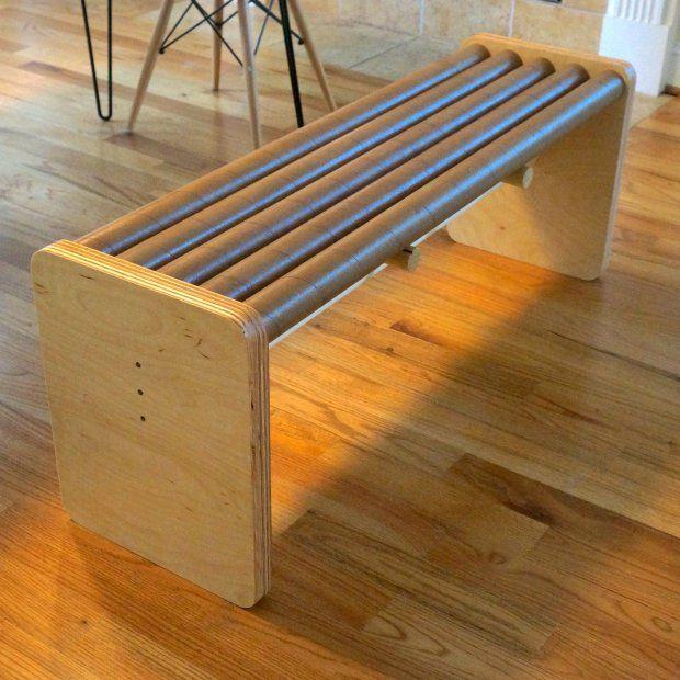 cardboard tube furniture. Build A Modern Bench With Cardboard Tubes Tube Furniture