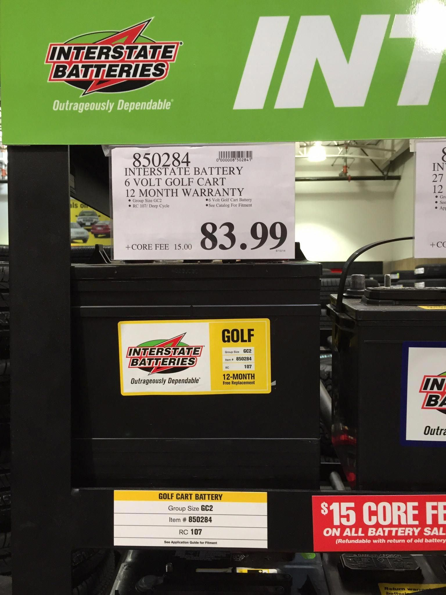 6 Volt Golf Cart Batteries From Costco For Solar Bank Storage Golf Cart Batteries Golf Carts Off Grid Batteries