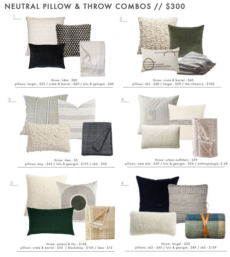18 Neutral And Textured Pillow Combos 5 Rules For Guaranteed Combo Ing Success Emily Henderson Throw Pillows Living Room Living Room Pillows Living Room Decor Neutral