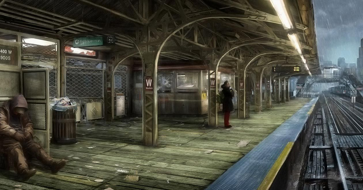 Train Station From Watch Dogs Concept Art Watch Dogs Art Watch
