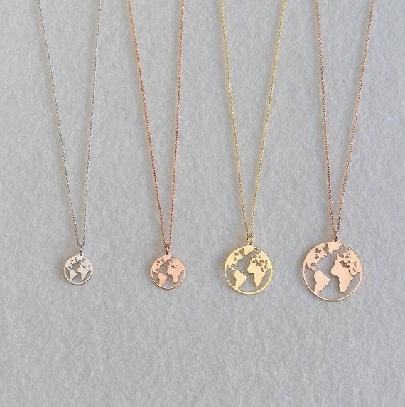 Globe necklace Rose gold globe necklace Earth Necklace Boho Jewelry Silver Necklace Glob Globe necklace Rose gold globe necklace Earth Necklace Boho Jewelry Silver Neckla...