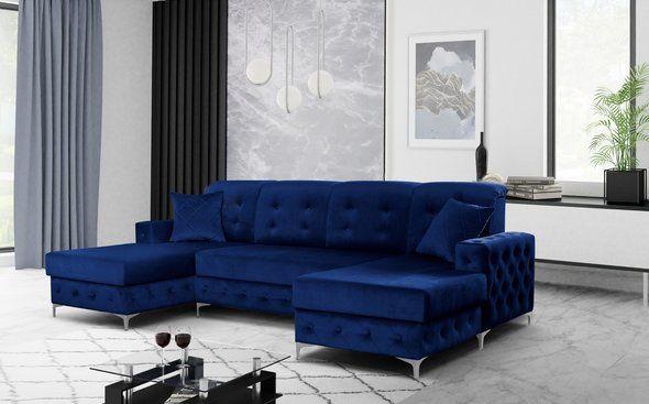Verso Blue Sectional Sofa Verso Skyler Design Sectional Sofas Blue Sectional Blue Living Room Decor Velvet Sofa Living Room