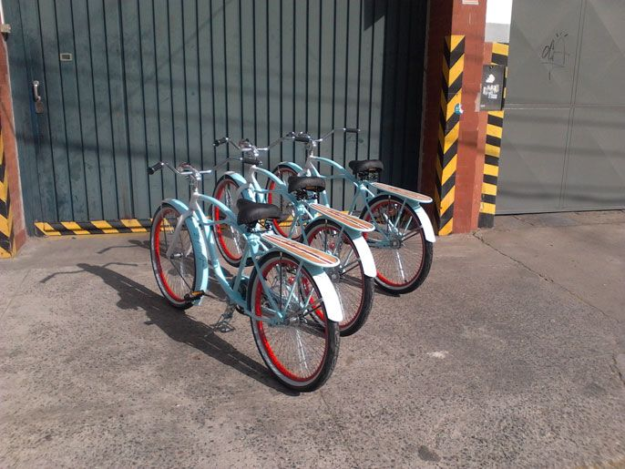 Bicicletas Cruiser vintage. (Gentileza Martín Delgado)