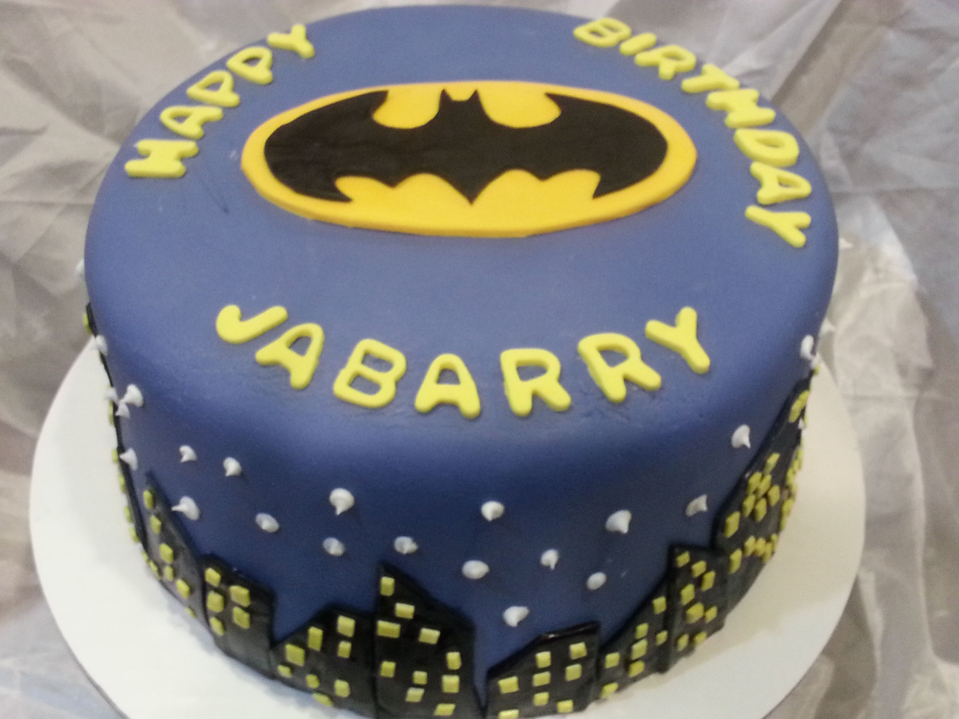 Batman Birthday Cake Food Decorated Cakes