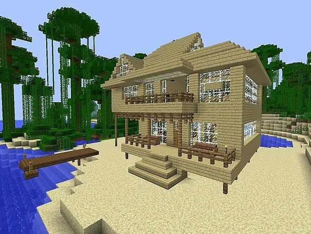 Minecraft Beach House Minecraft Map Minecraft Beach House