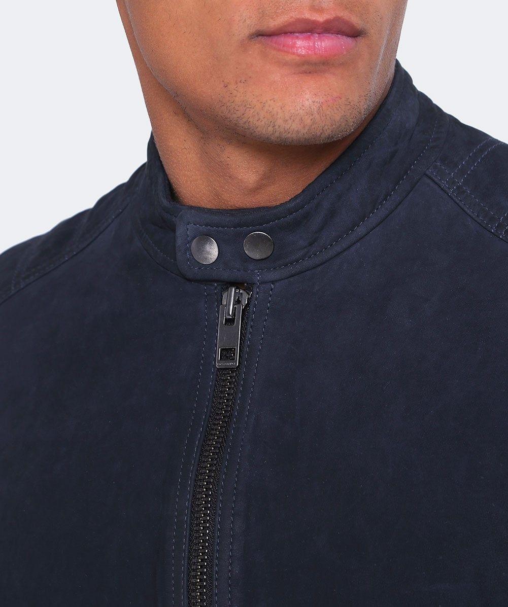 Suede Jondrix Jacket Leather jacket men, Orange jacket