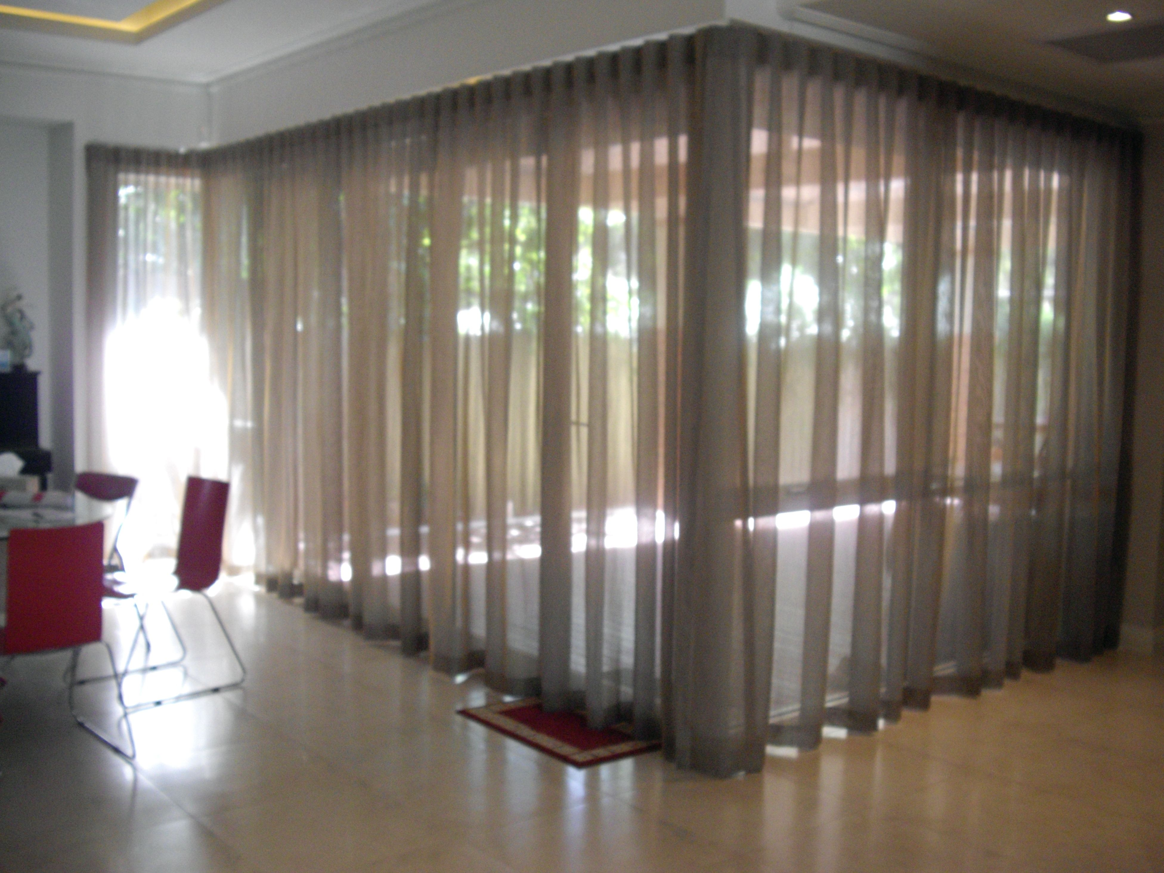 Recessed Ceiling Curtain Track System   Shower Curtain   Pinterest ...