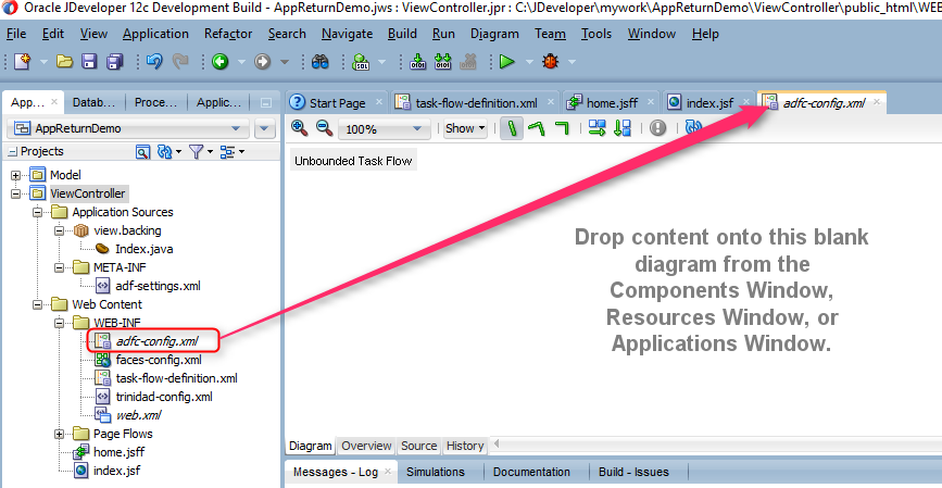 Adf Bounded Task Flow Return Activity Example Catgovind Task Activities Flow