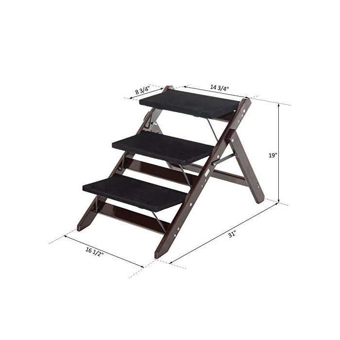 Best Fuente 2 In 1 Portable Folding 3 Step Pet Stair In 2019 400 x 300