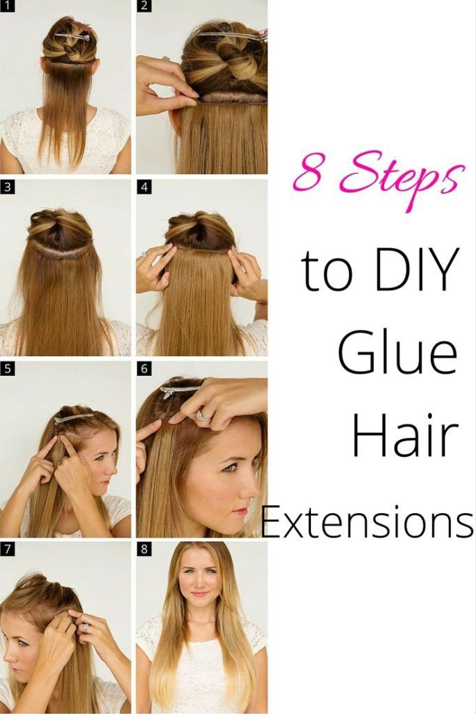 8 Easy Steps To Diy Glue Your Hair Extensions Beauty Hair