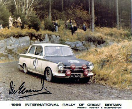 Vic Eldford Cortina Lotus  RAC RALLY 1966
