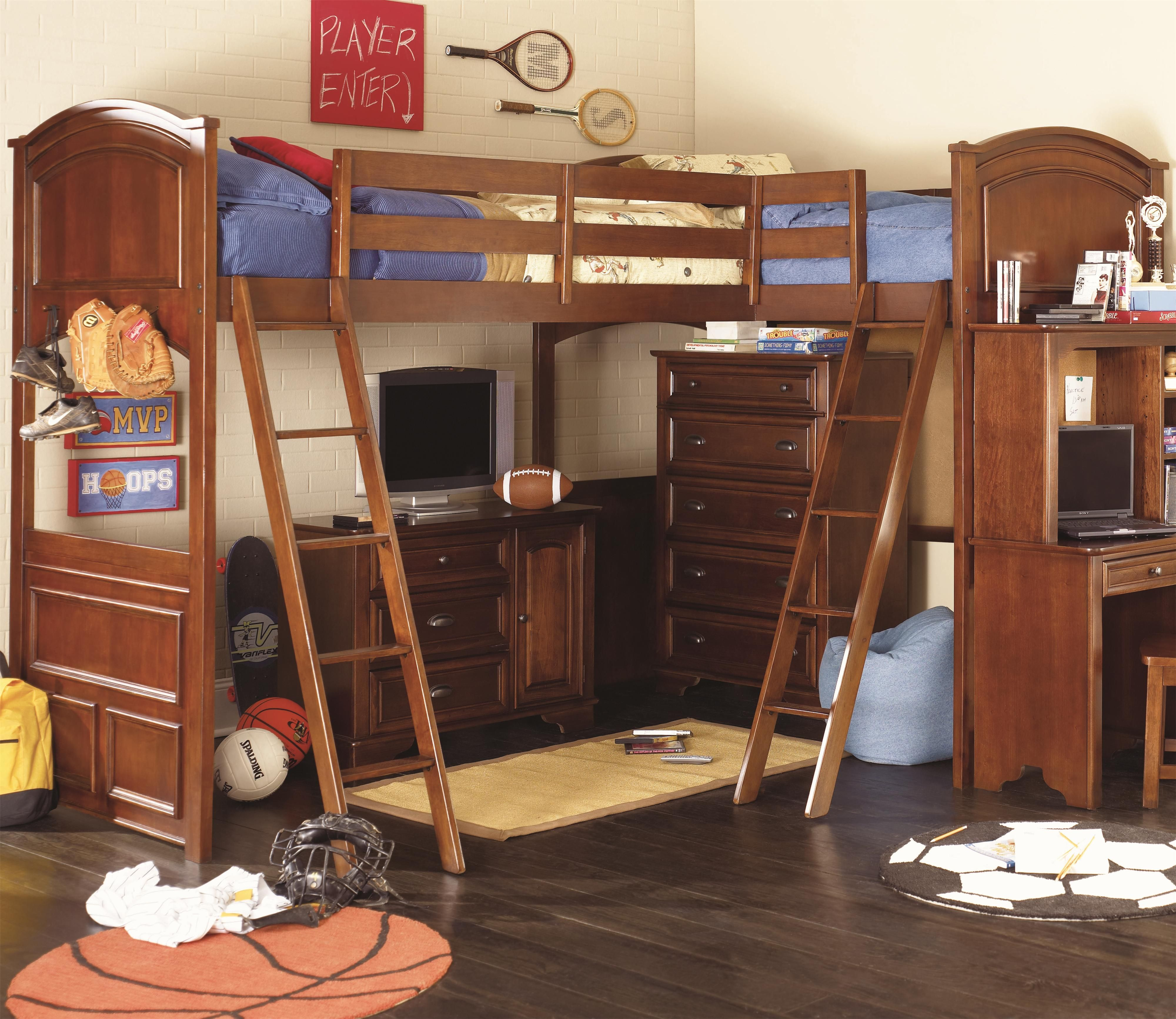 Loft bed ideas for kids  Deer Run BiLoft Bed by Lea Industries  Basment bed room