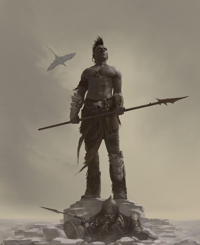 Ashlander – Morrowind fan art by Arthur Bozonnet | Dark elf