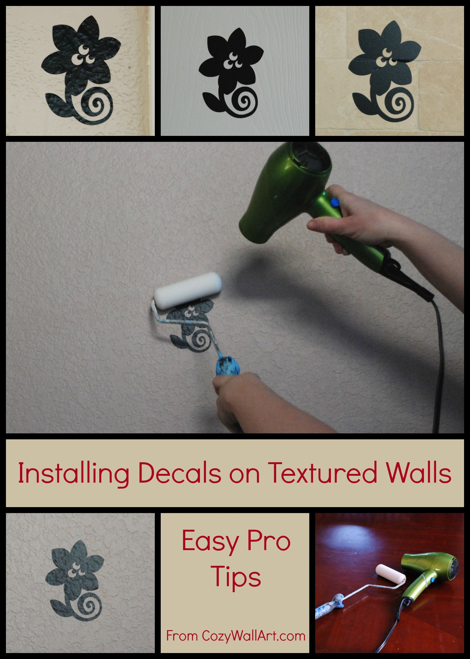 What a great trick for installing wall decals on textured walls what a great trick for installing wall decals on textured walls from http amipublicfo Gallery