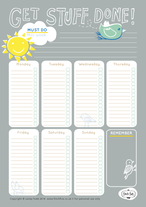 What a huge collection of free printable weekly planners to plan – Free Printable Weekly Planner