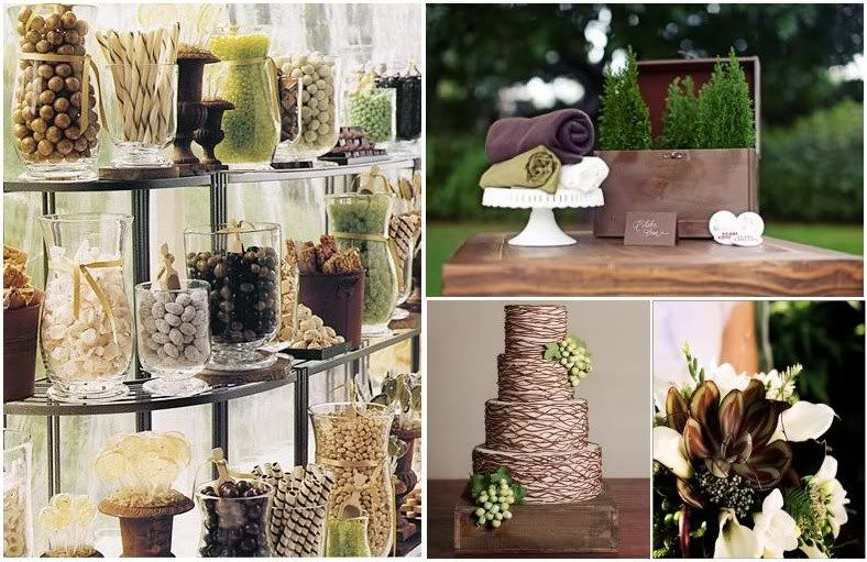 Green And Brown Themed Party/wedding