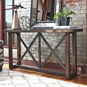 Signature Design By Ashley Zenfield Medium Brown Sofa Table Sofa Table Furniture Decor Decor
