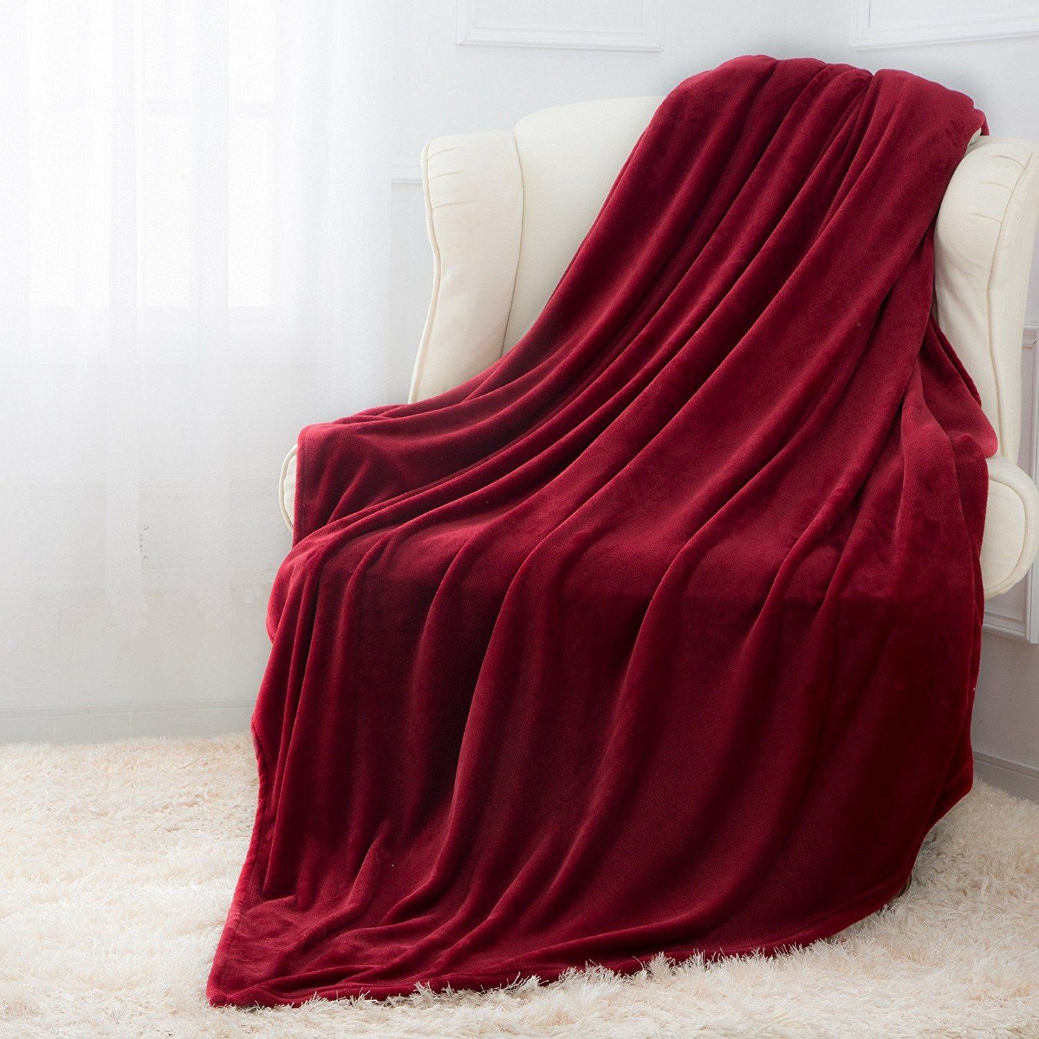 Red flannel 2018  Amazon  Luxurious Flannel Throw Blanket Just    WCode