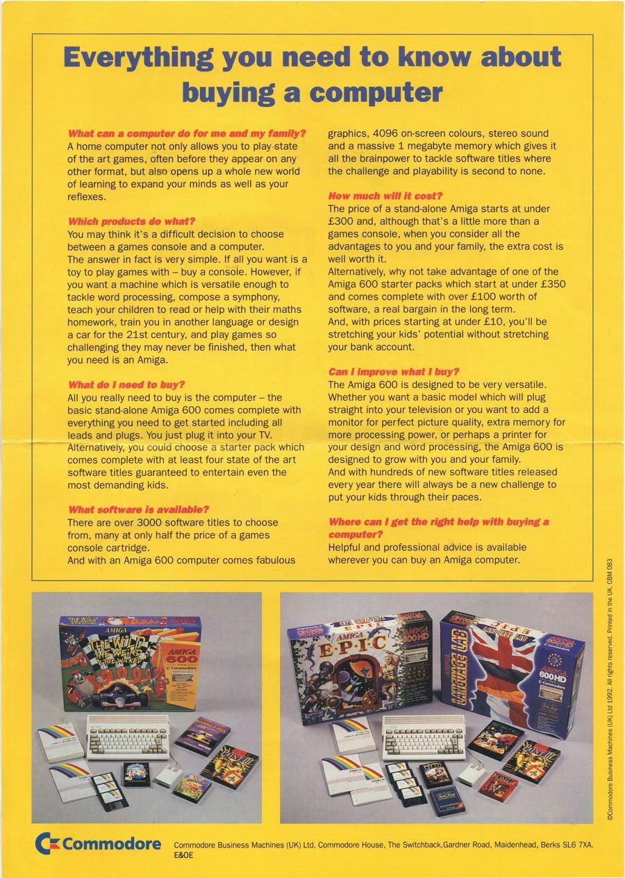 Advert Amiga 600 Bundles