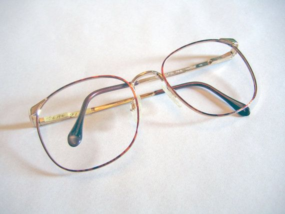 f8bcab93a26 Luxotica Vintage 1990s Deadstock Eyeglasses Frames Round Tortoise Shell    Gold Wire Rimmed Glasses