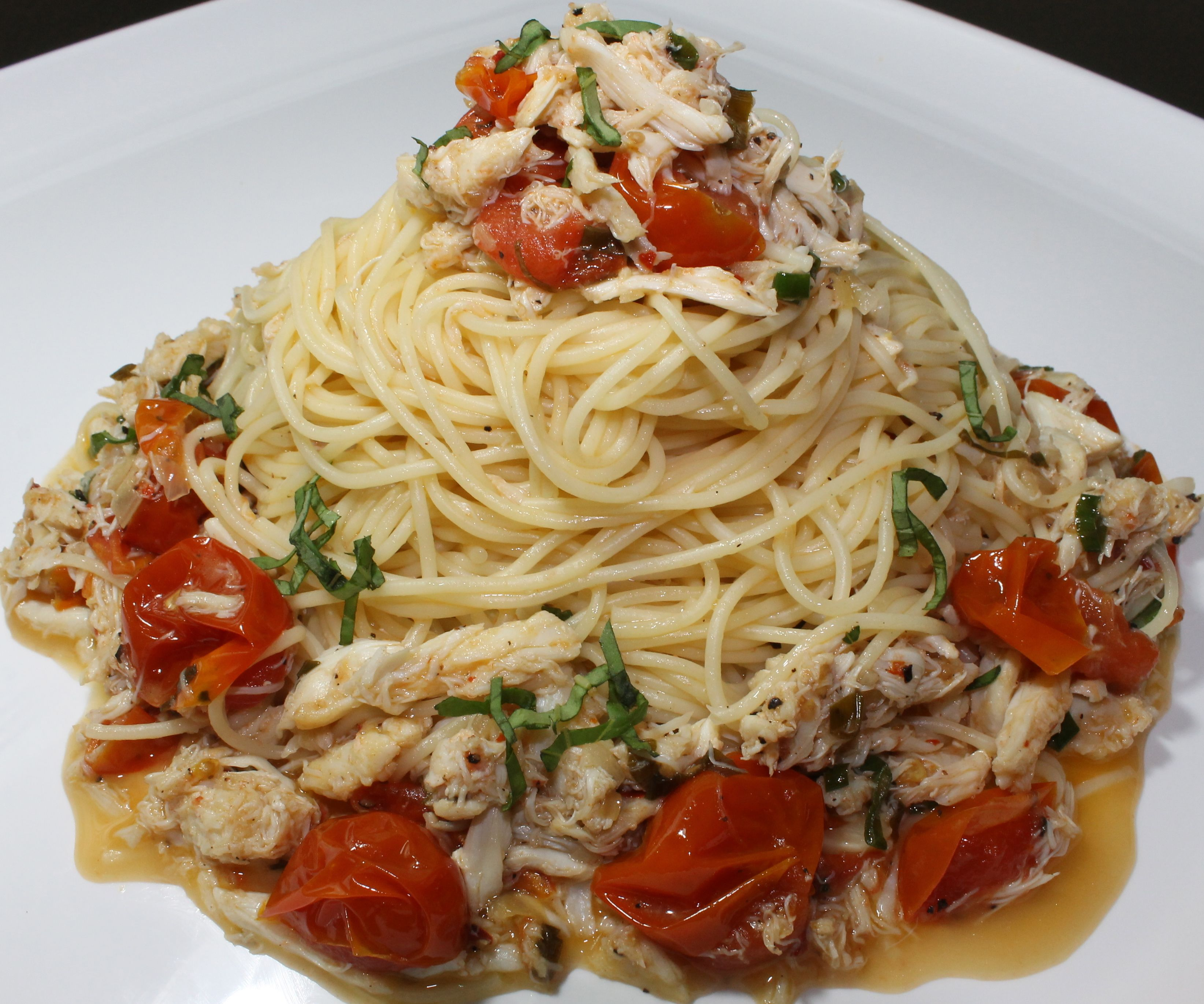 Crab Pasta with Meyer Lemon and Chive Butter Sauce...Aka heart attack but omgaaah so yum