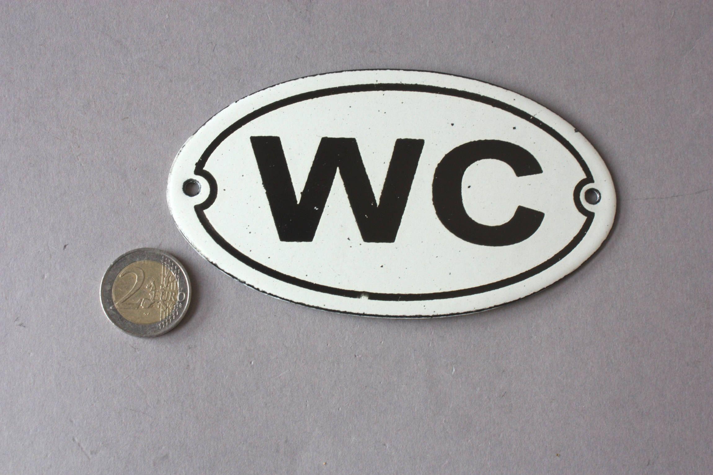 Wc Toilet Emaille Schild Shabby Emailleschild Toilette Vintage
