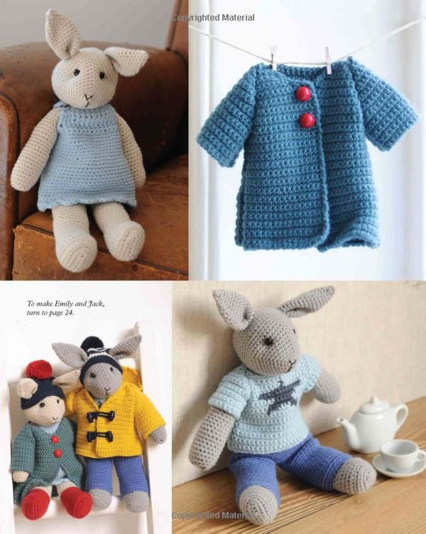 Cute Crocheted Animals: 10 Well-Dressed Friends to Make: Amazon.co ...