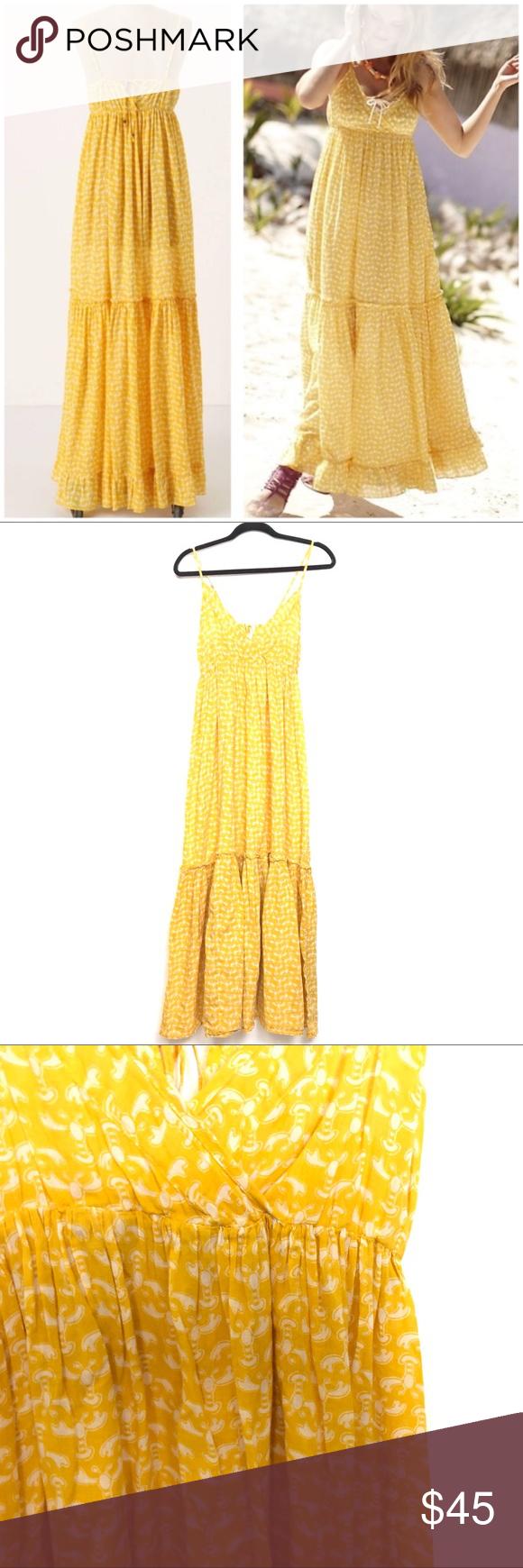 bfb3b3c330e0d Anthropology Dresses. Anthro Porridge Lobster Bake Maxi Chemise Dress  Anthro Porridge Womens Sz M Lobster Bake Yellow Chemise