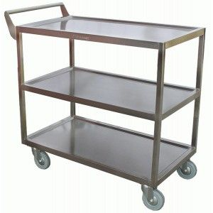Good Quality Commercial Kitchen Equipment   Heavy Duty Bus Cart All Stainless  Medium
