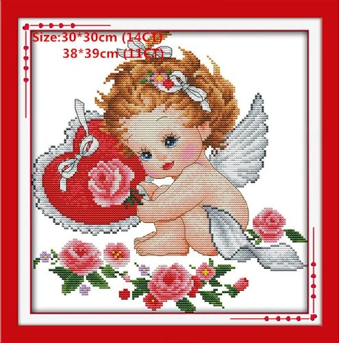 Lovely Angel Dmc Embroidery Floss Cross Stitch Kits Embroidery Needlework Sets #embroideryfloss