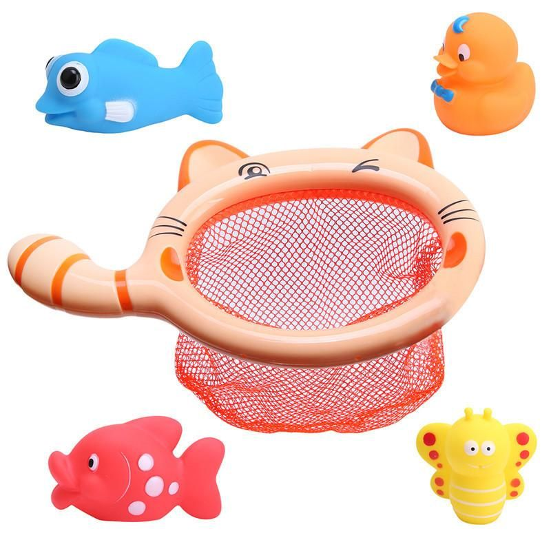 1 Set Fishing Toy Bag Network Pick up Duck & Bee & Fish Kids Toy ...
