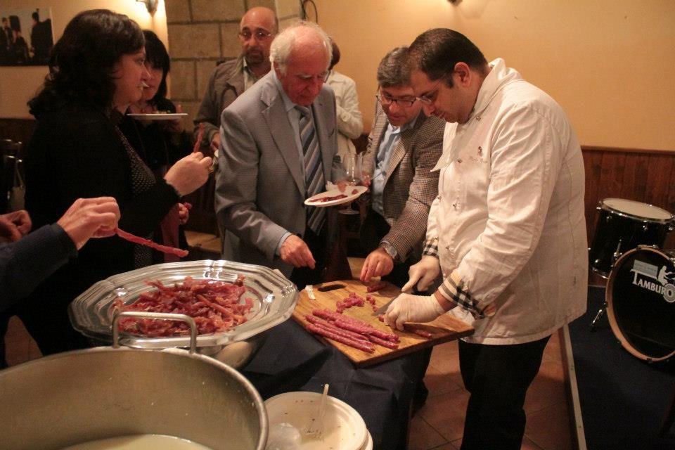 """I salumi proposti dallo chef Nicola Russo del Ristorante """"Il Primo Piano"""" di Foggia durante CIAK diVINI n.6"""