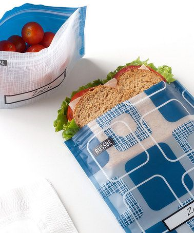 Another great find on #zulily! Square Linen-Blend Snack & Sandwich Bag Set #zulilyfinds