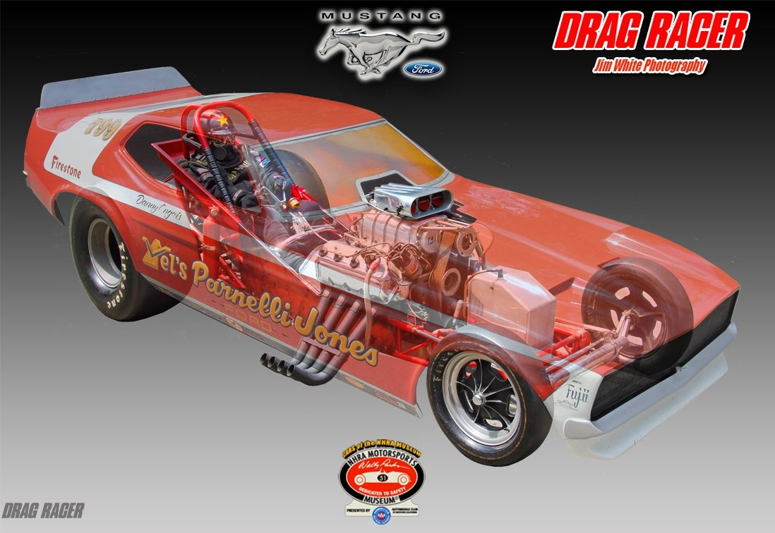 VelsParnelli Jones Mustang Funny Car A Horse of a