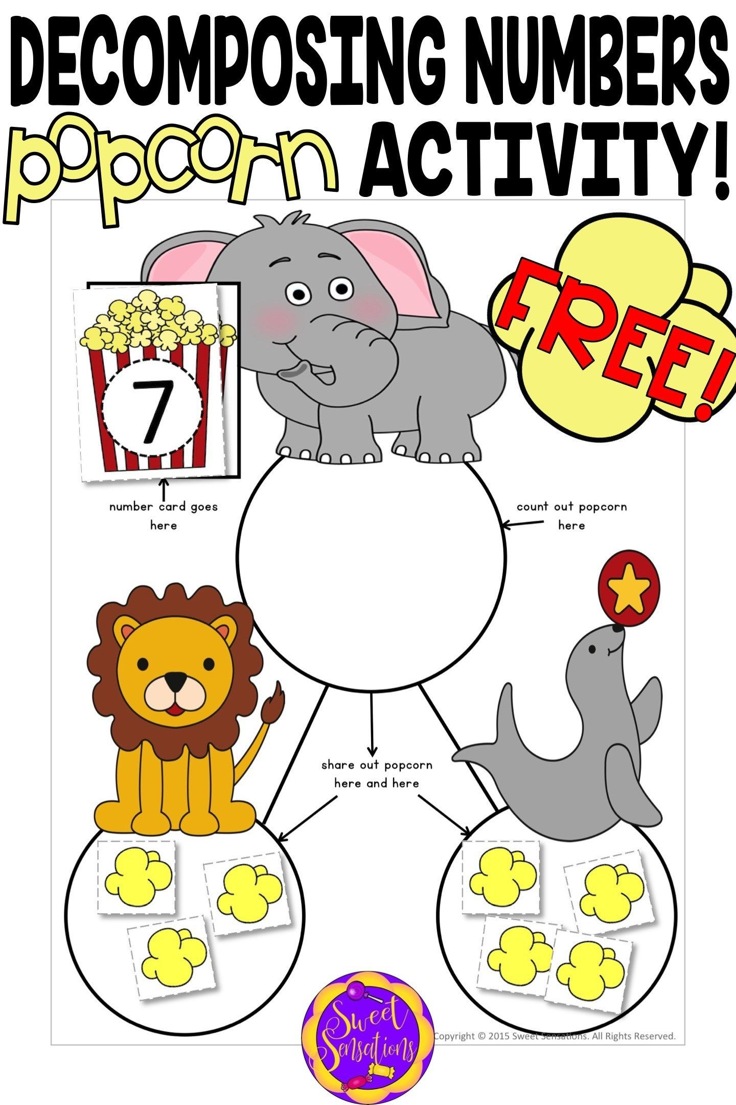 Use These Fun Free Downloads And Popcorn To Introduce Your Kindergarteners To Decompo Numbers Kindergarten Decomposing Numbers Kindergarten Decomposing Numbers [ 2160 x 1440 Pixel ]
