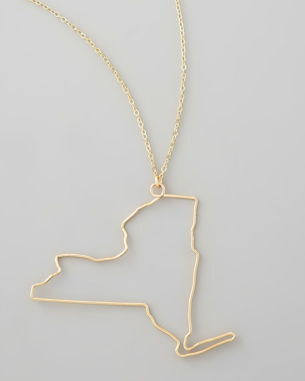Gold new york state pendant necklace pendants and products gold new york state pendant necklace aloadofball Gallery