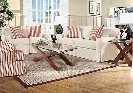Cindy Crawford Home Beachside Natural 7 Pc Living Room Room set