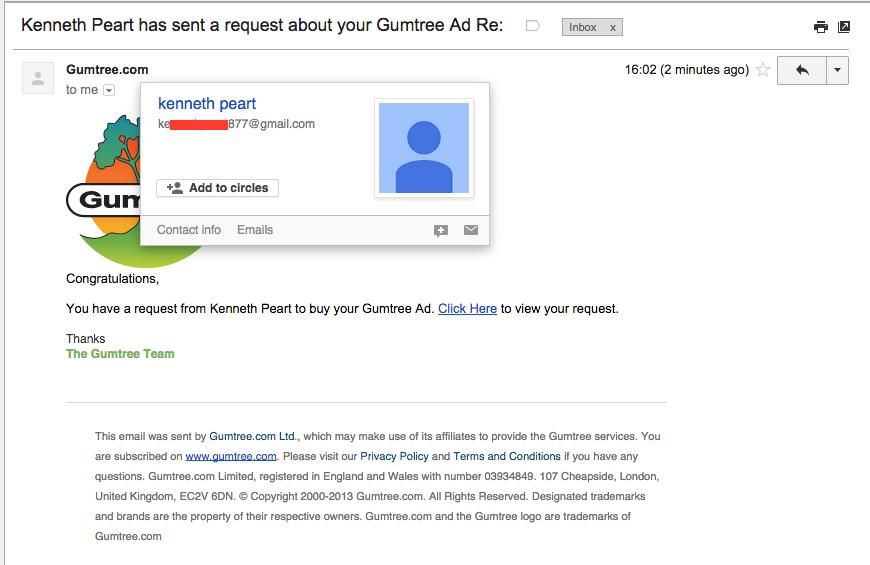 checking sender email address