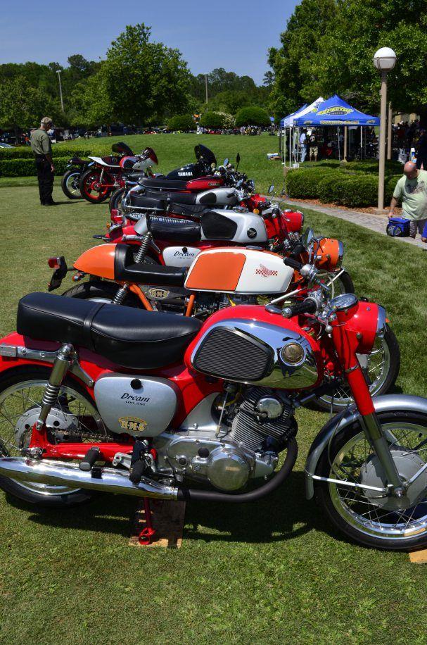Old Honda Motorcycles.